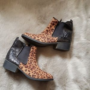 Stevie's leopard ankle boots